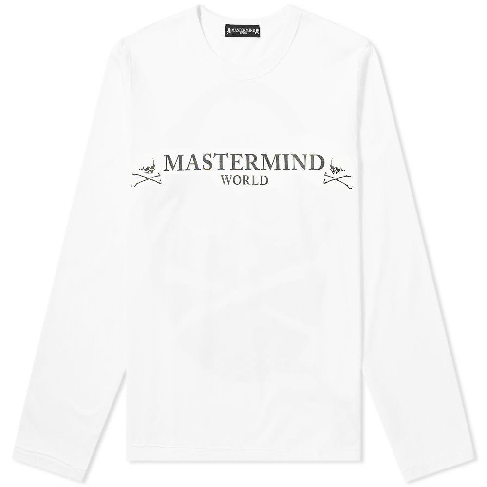 Photo: MASTERMIND WORLD Long Sleeve Logo Tee White