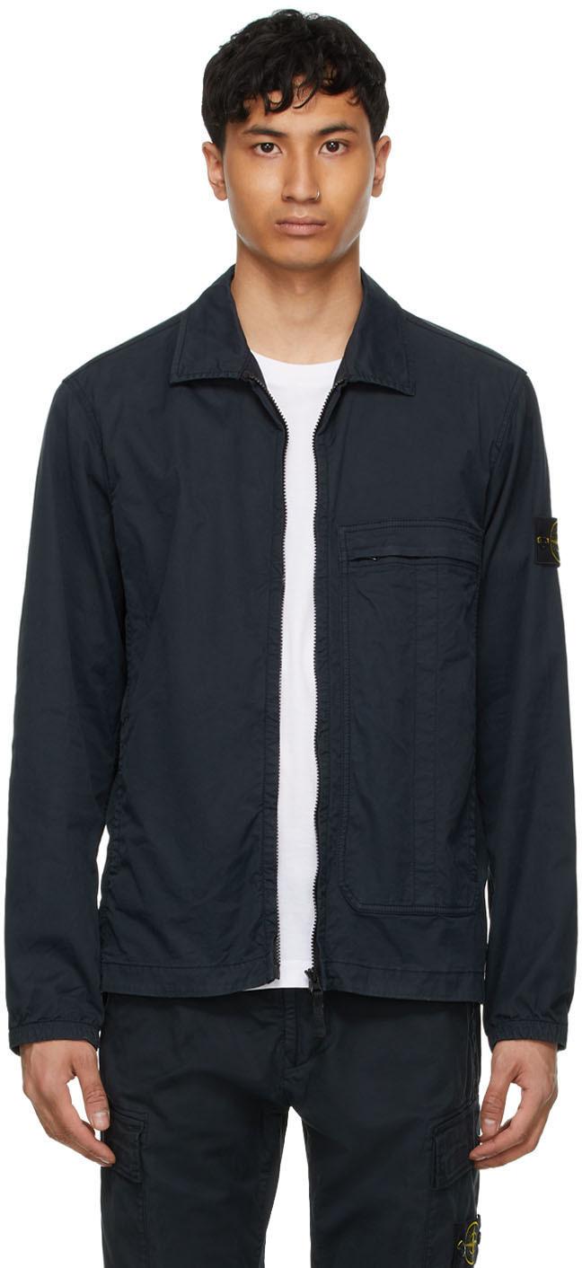 Photo: Stone Island Navy Over Shirt Jacket