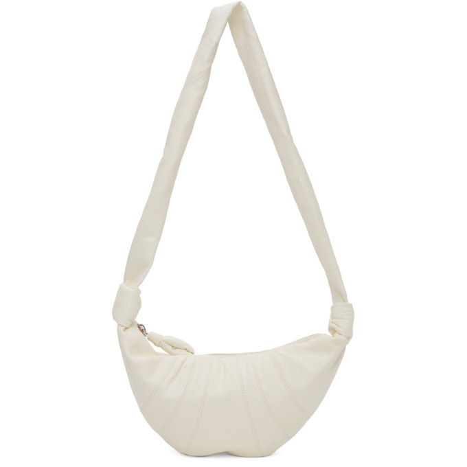 Photo: Lemaire White Small Lambskin Croissant Bag