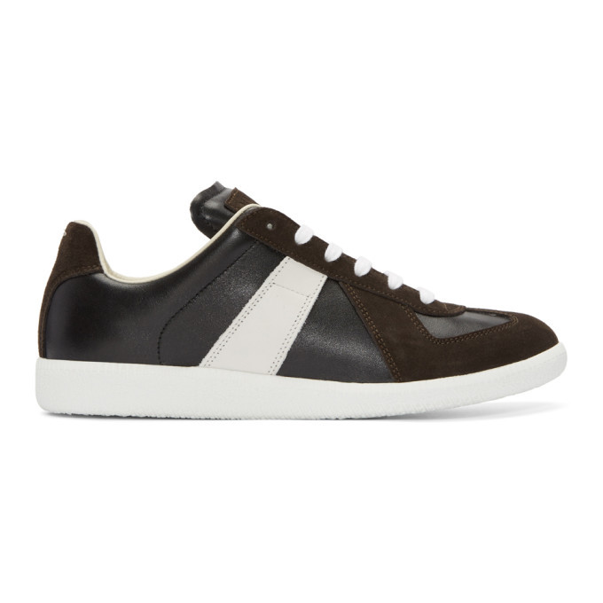 Photo: Maison Margiela Black and White Replica Sneakers