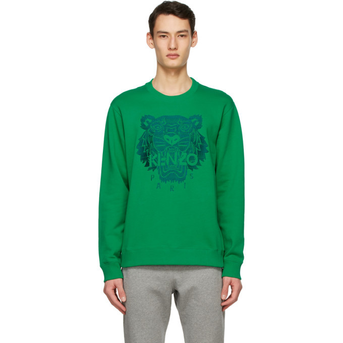 Photo: Kenzo Green Classic Light Tiger Sweatshirt