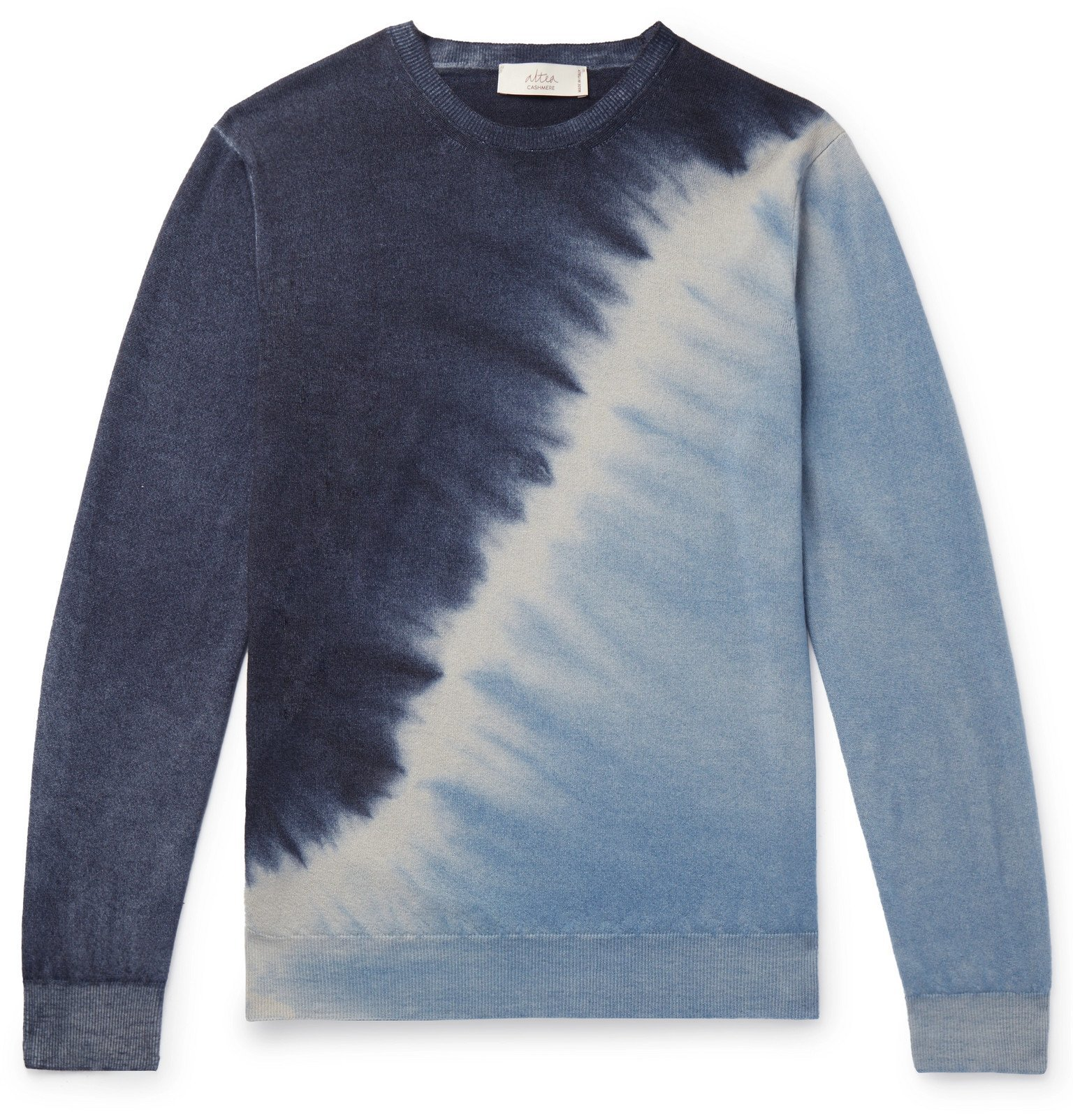 Photo: Altea - Tie-Dyed Cashmere Sweater - Blue