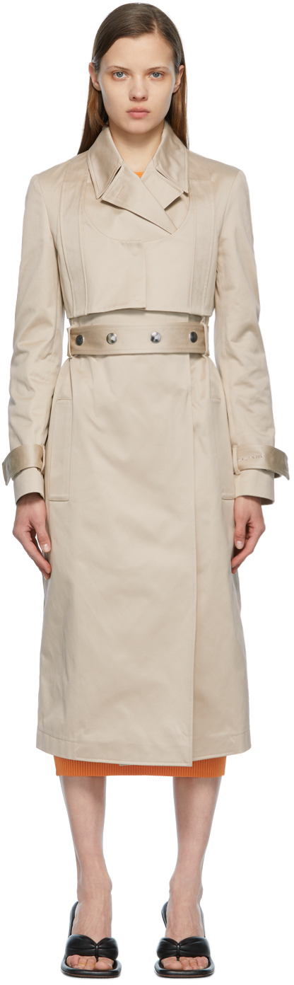 Photo: 1017 ALYX 9SM Beige Double-Breasted Trench Coat