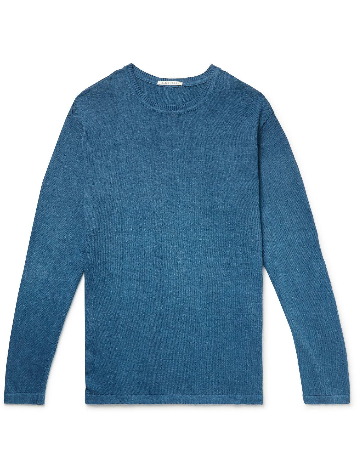 Photo: 11.11/eleven eleven - Slub Organic Cotton Sweater - Blue