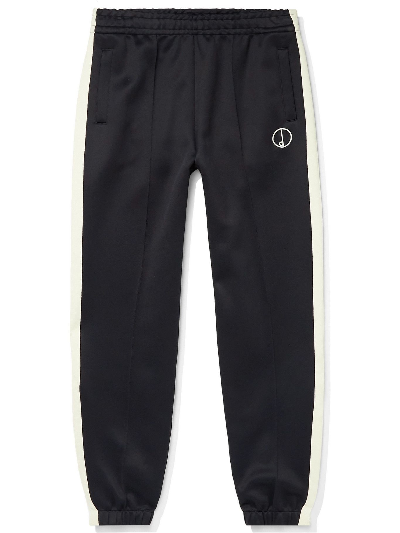 Dunhill - Tapered Striped Shell Track Pants - Black