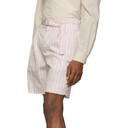 3.1 Phillip Lim Pink Striped Relaxed Shorts