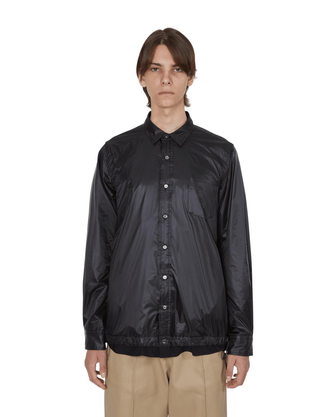Photo: Sacai Nylon Shirt Black