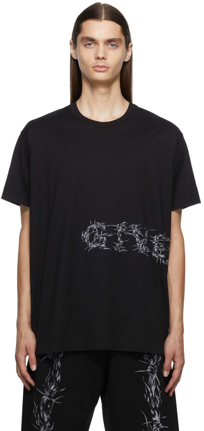 Photo: Givenchy Black Oversized Barbed Wire T-Shirt