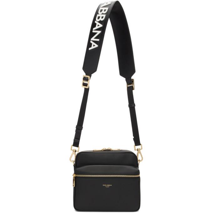 Photo: Dolce and Gabbana Black Logo Strap Messenger Bag