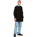 Raf Simons Blue Uneven Knee Patch Jeans