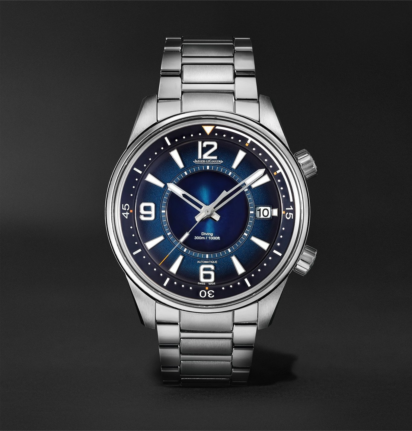 Photo: Jaeger-LeCoultre - Polaris Mariner Date Automatic 42mm Stainless Steel Watch, Ref. No. 9068180 - Blue