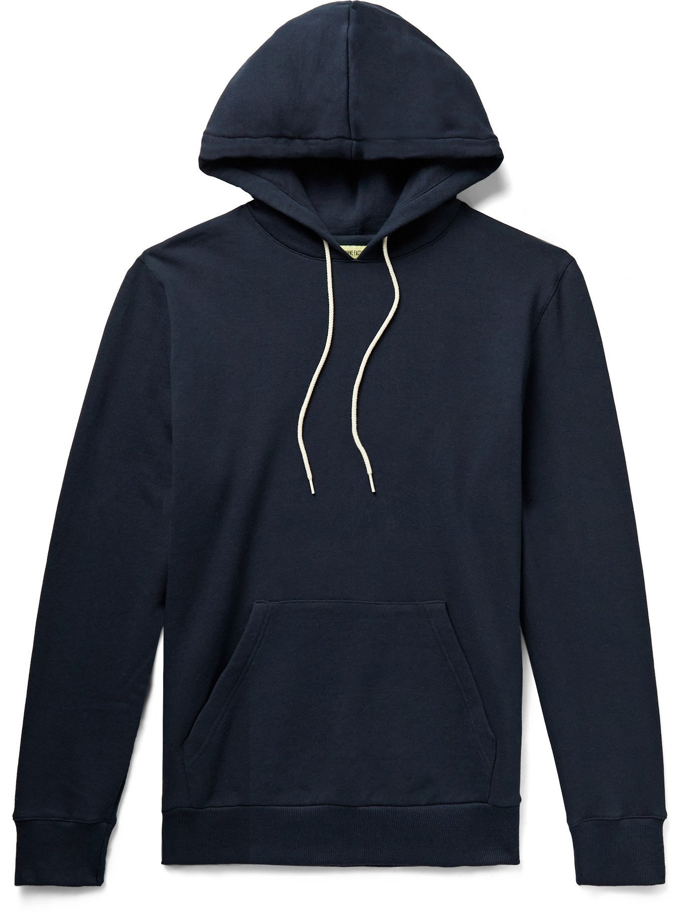Photo: DE BONNE FACTURE - Slim-Fit Loopback Cotton-Jersey Hoodie - Blue