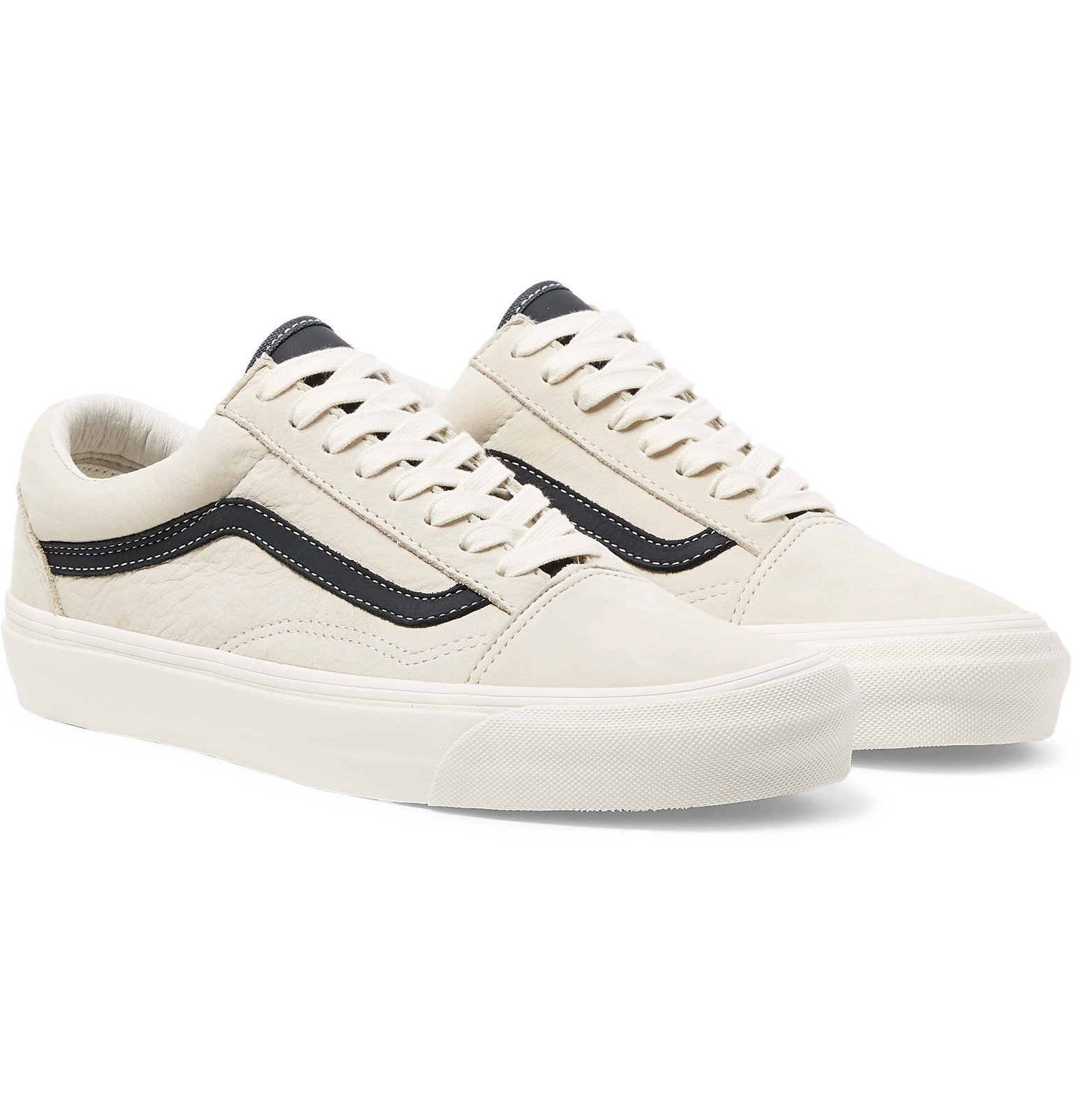 Photo: Vans - OG Old Skool LX Leather-Trimmed Nubuck Sneakers - Neutrals