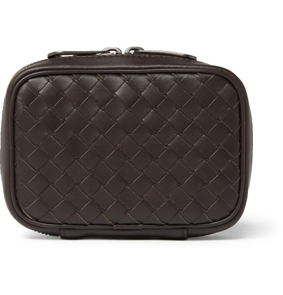 Photo: Bottega Veneta - Intrecciato Leather Cufflink Case - Men - Brown