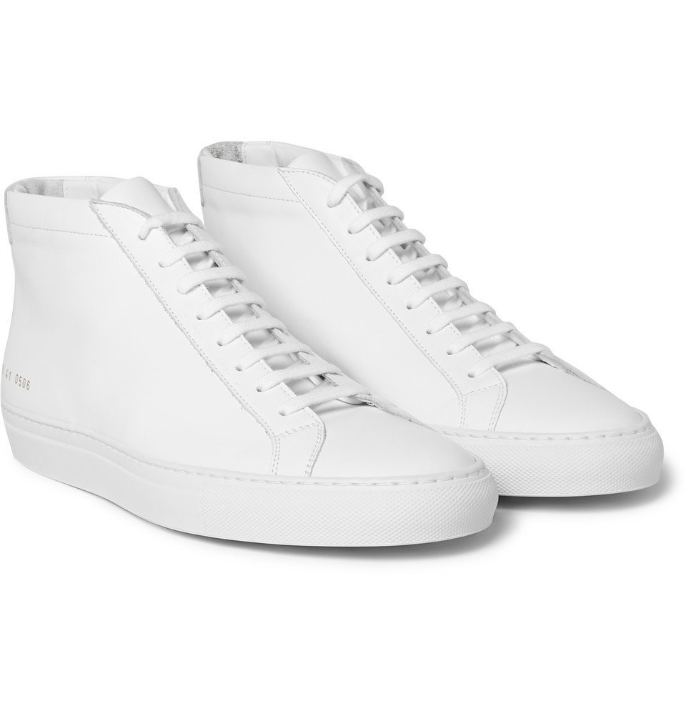 Common Projects - Original Achilles Leather High-Top Sneakers - Men - White