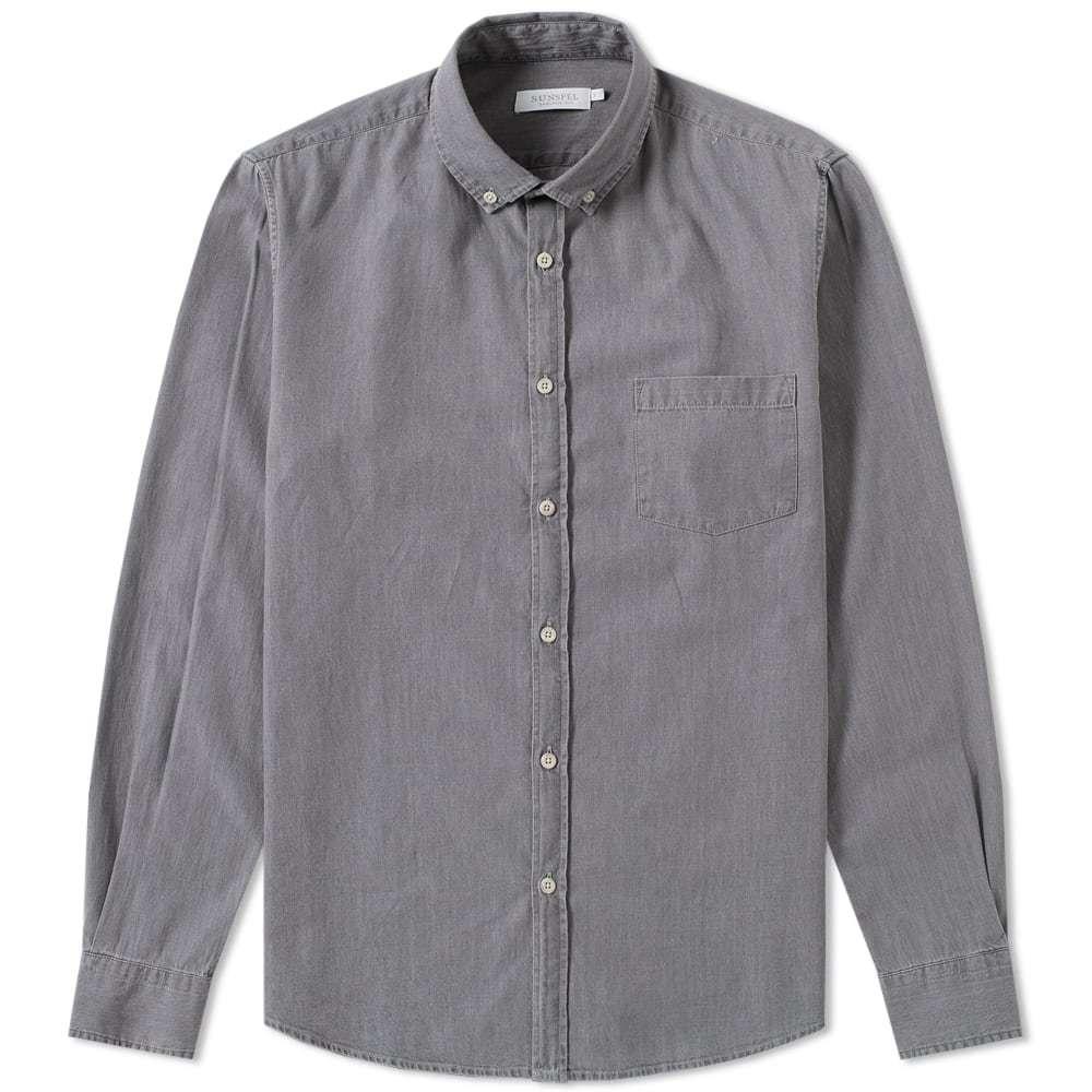 Photo: Sunspel Button Down Shirt Grey
