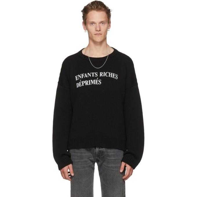 Photo: Enfants Riches Deprimes Black E.R.D Classique Logo Sweater