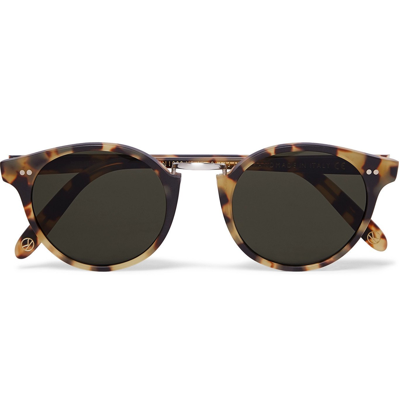 Photo: Kingsman - Cutler and Gross Round-Frame Tortoiseshell Acetate and Silver-Tone Metal Sunglasses - Tortoiseshell