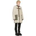Sacai Reversible Khaki and Off-White Sherpa Coat
