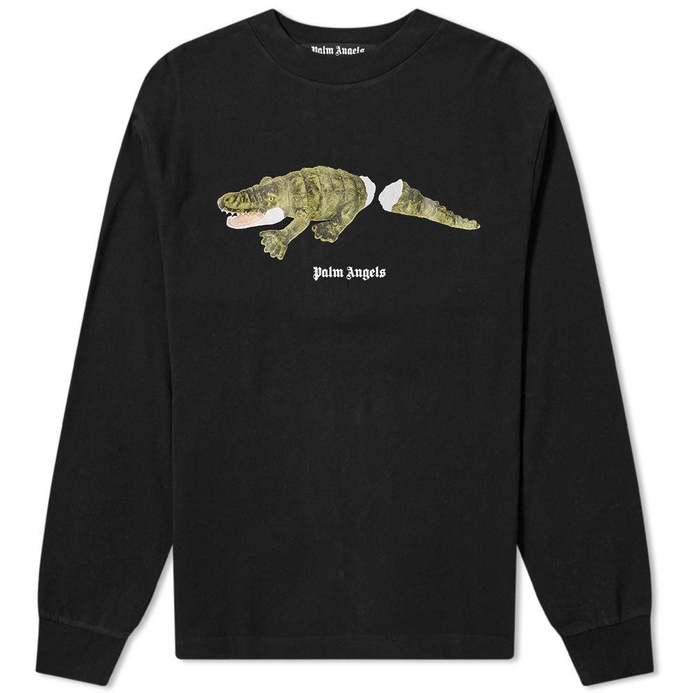 Photo: Palm Angels Long Sleeve Crocodile Back Print Tee