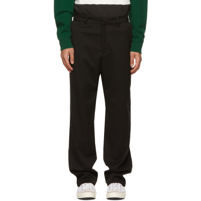 Photo: Noon Goons Black Twill Ahmed Trousers