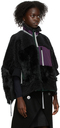 Sacai Black Wool & Faux-Fur Vest