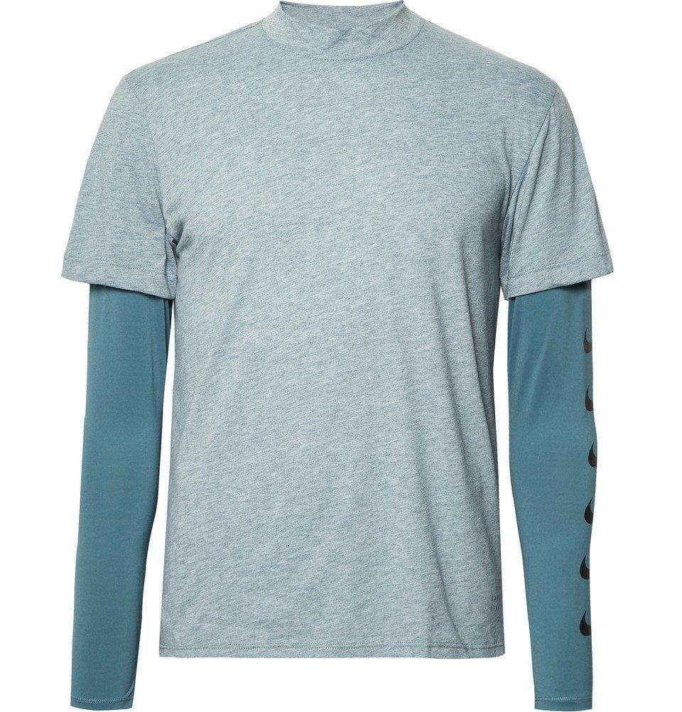 Nike Running - Breathe Rise 365 Dri-FIT Top - Men - Light blue