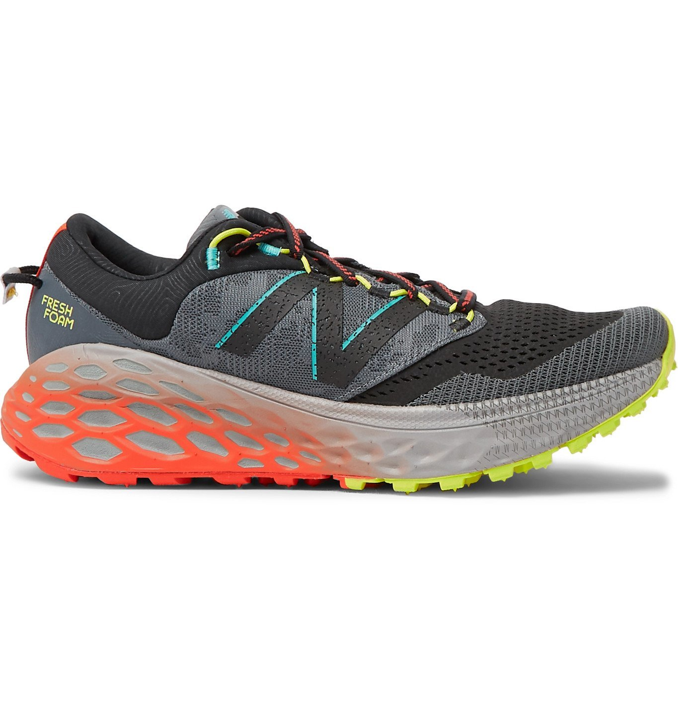 Photo: New Balance - Fresh Foam More Trail v1 Mesh and Rubber Trail Running Sneakers - Gray