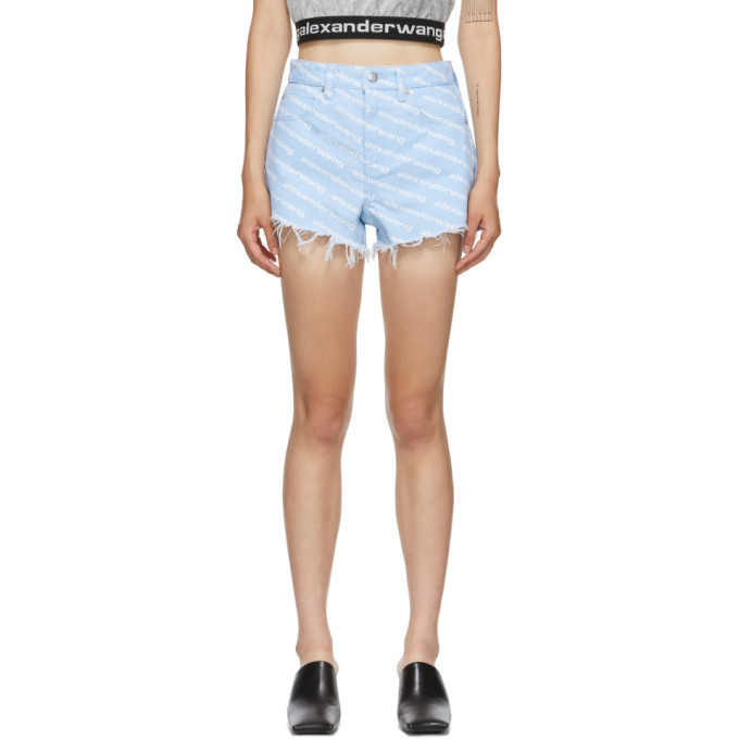 Photo: Alexander Wang Blue Bite Logo Shorts