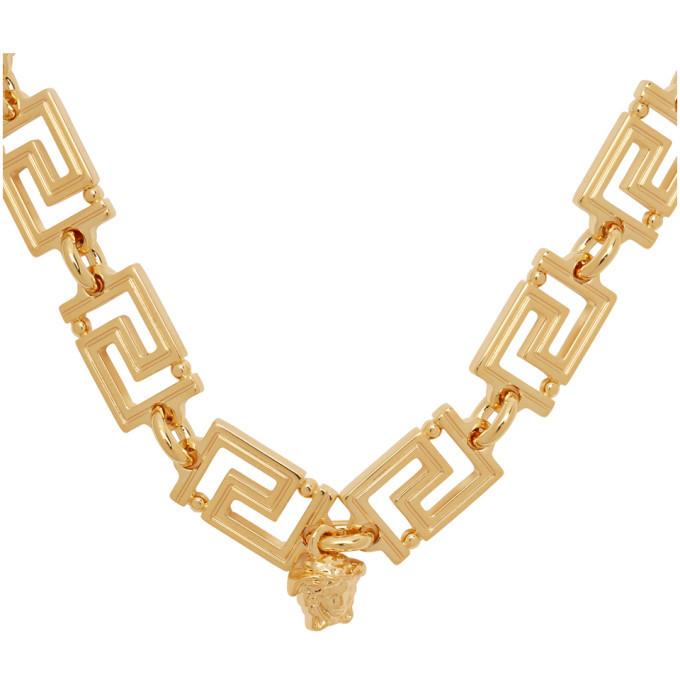 Versace Gold Logo Link Necklace