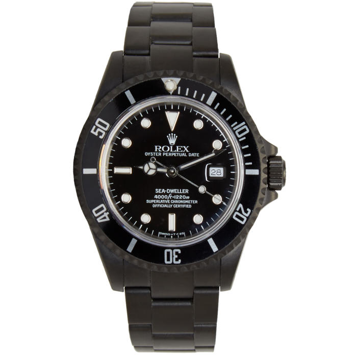 Photo: Black Limited Edition Matte Black Limited Edition Rolex Sea Dweller Watch