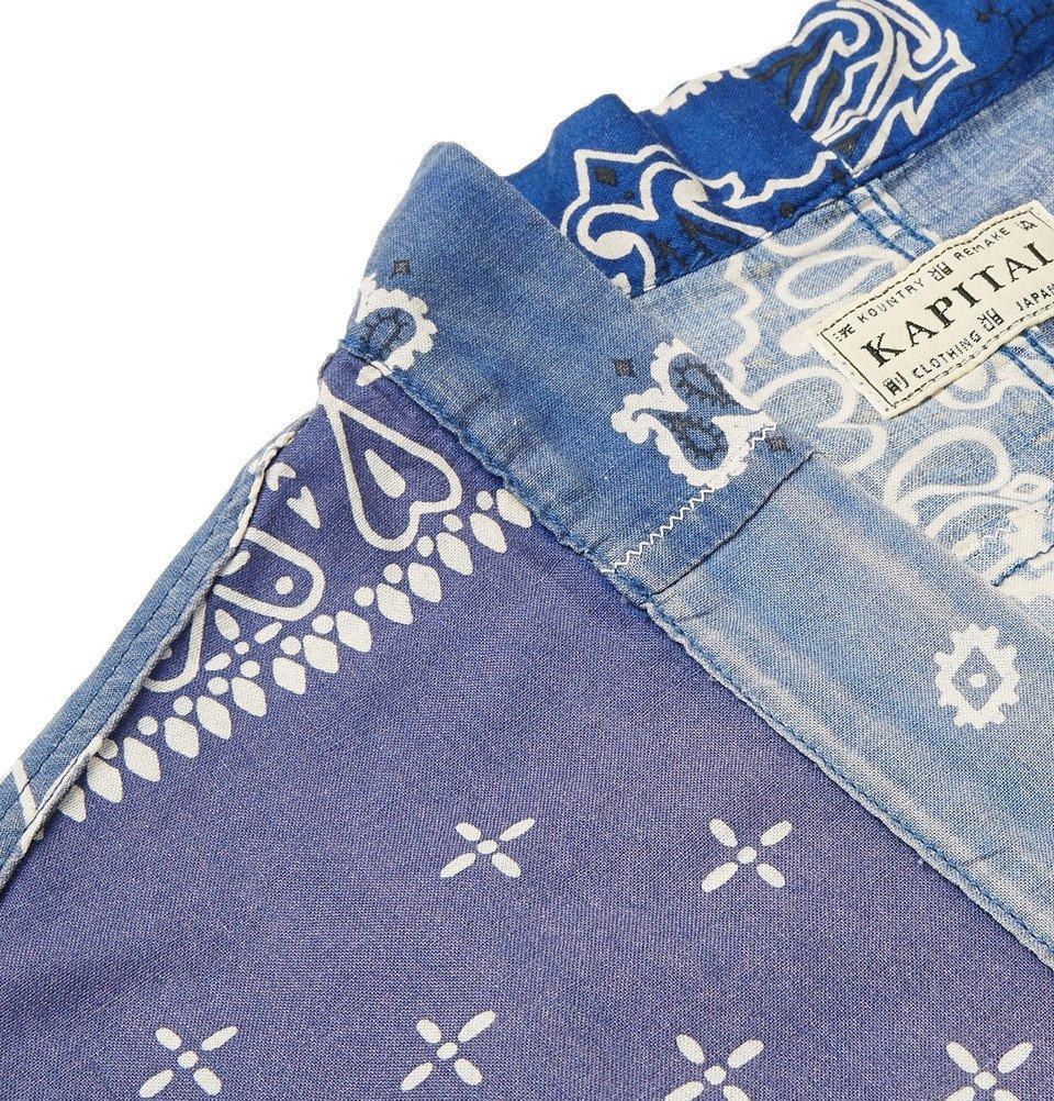 KAPITAL - Kakashi Printed Cotton-Blend Shirt - Blue