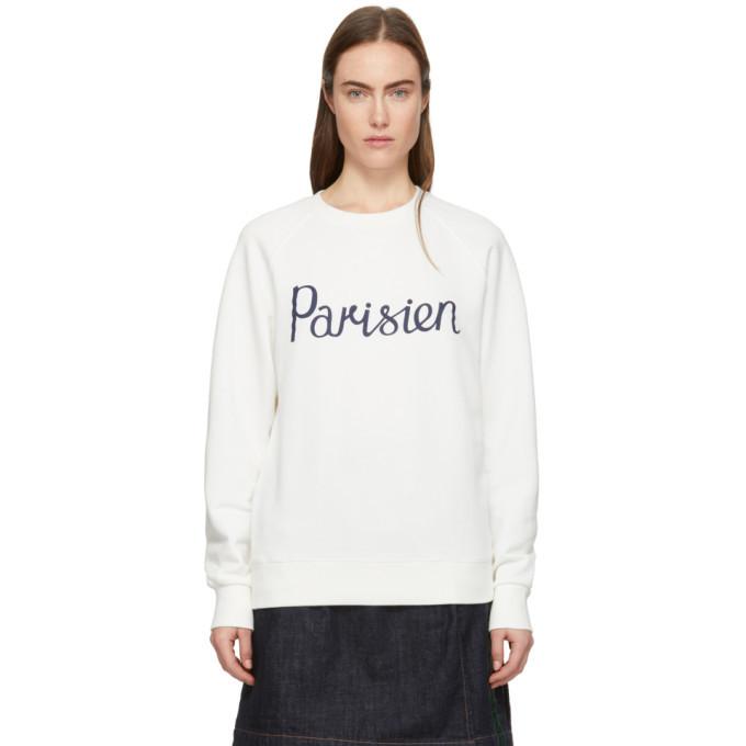 Photo: Maison Kitsune Off-White Parisien Sweatshirt