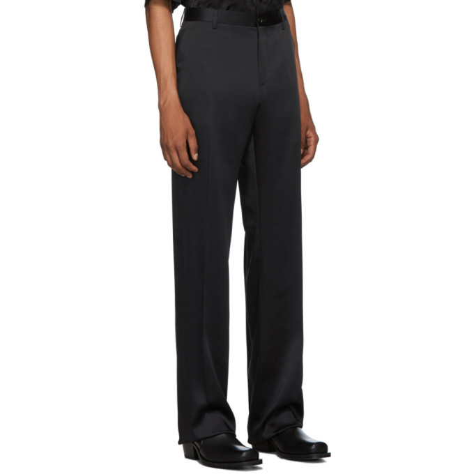 Versace Black Satin Trousers