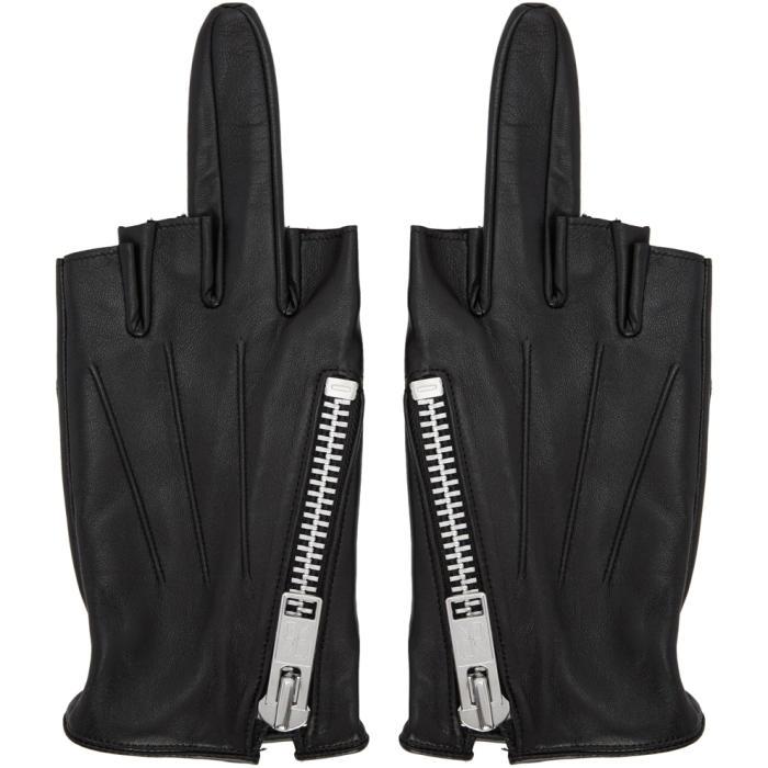 Photo: 99% IS Black Single-Finger Zip Gloves