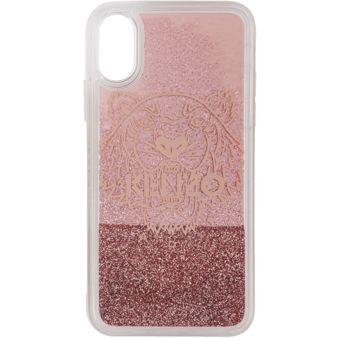 Photo: Kenzo Pink Glitter Tiger Head iPhone X/XS Case