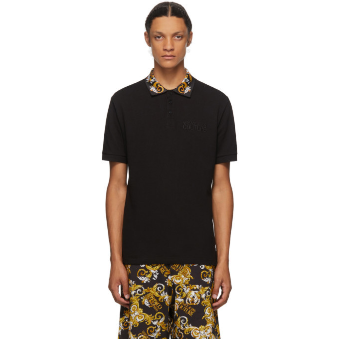 Photo: Versace Jeans Couture Black Barocco Polo