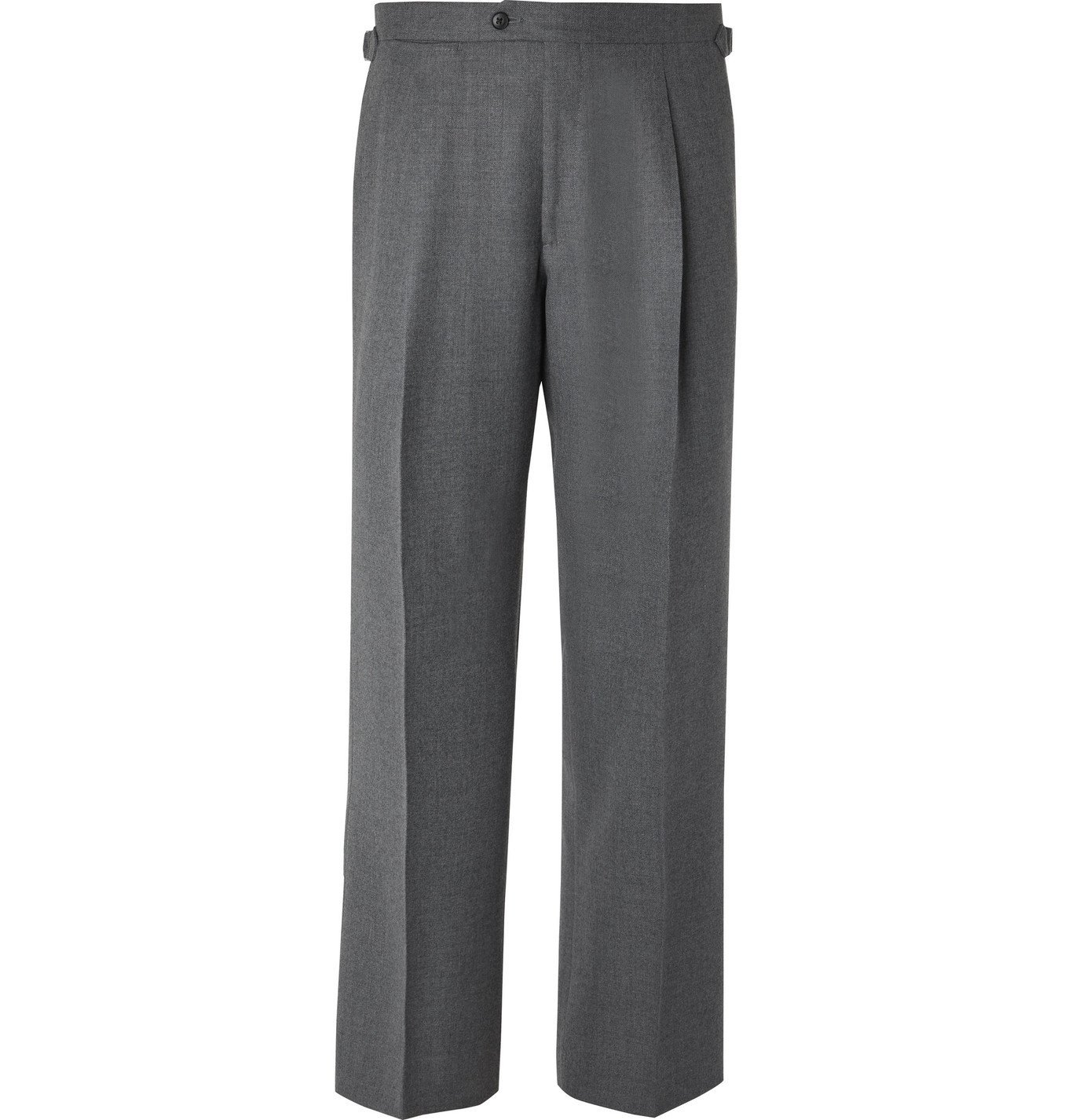 Photo: Saman Amel - Wide-Leg Wool and Cashmere-Blend Trousers - Gray