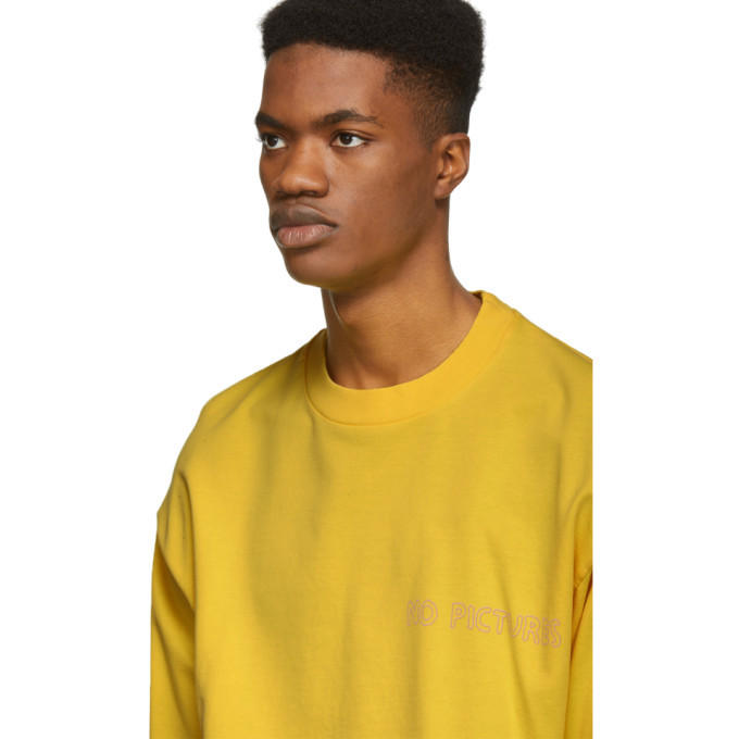 Nasaseasons SSENSE Exclusive Yellow No Pictures Long Sleeve T-Shirt