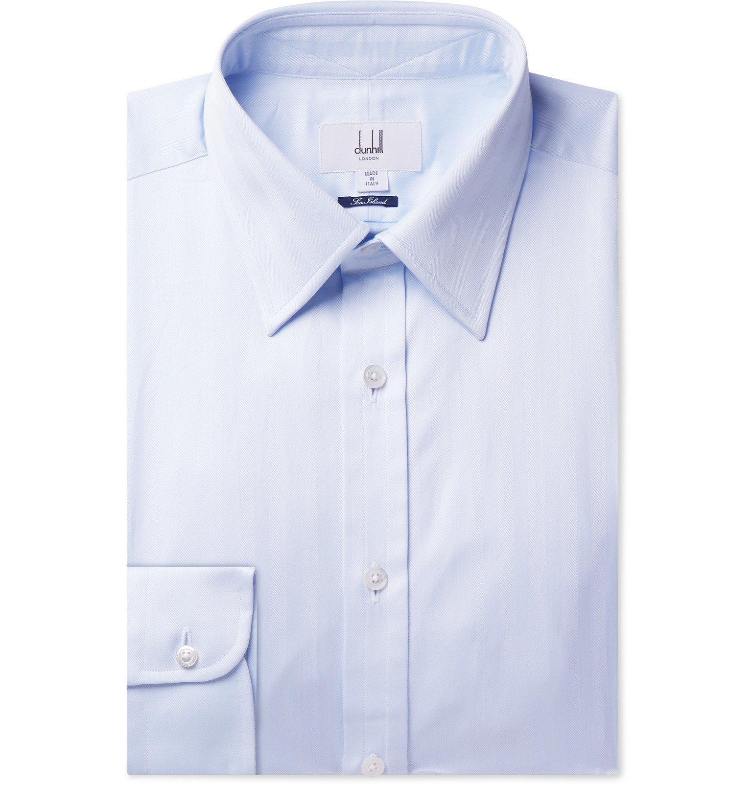 Dunhill - Cotton Shirt - Blue