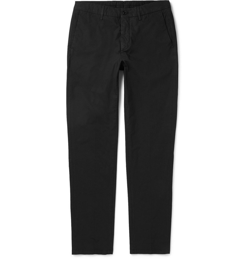 Dunhill - Slim-Fit Stretch-Cotton Chinos - Men - Black