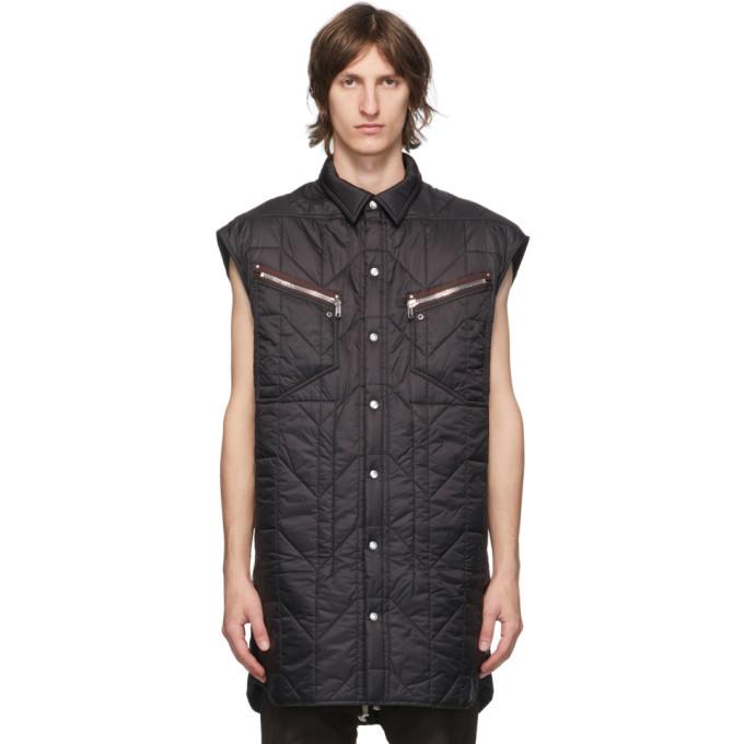 Photo: Rick Owens Black Oversized Vest
