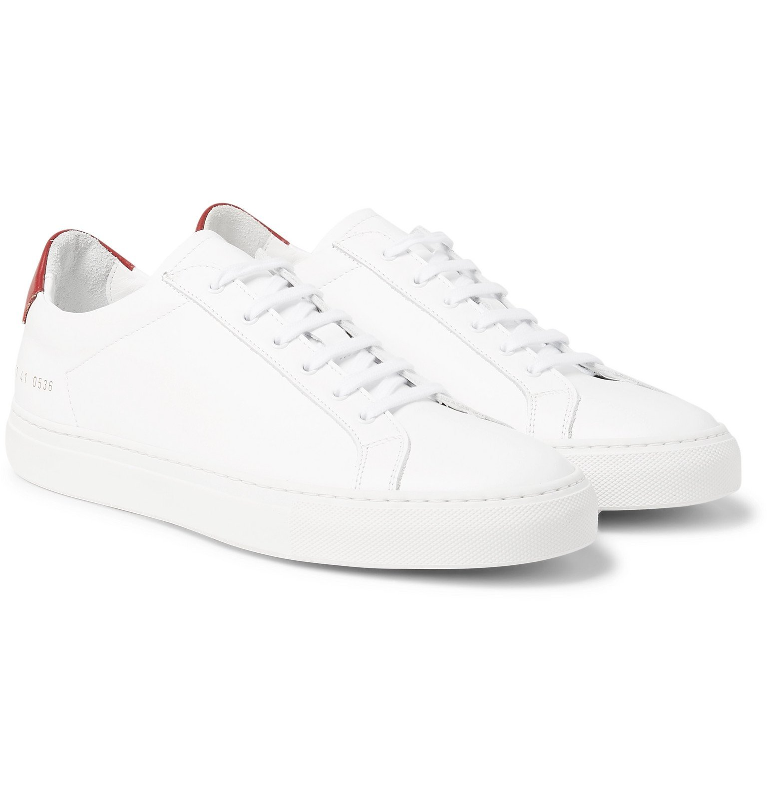 Photo: Common Projects - Achilles Retro Leather Sneakers - White
