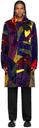 Sacai Multicolor KAWS Edition Faux-Fur Colorblocked Coat