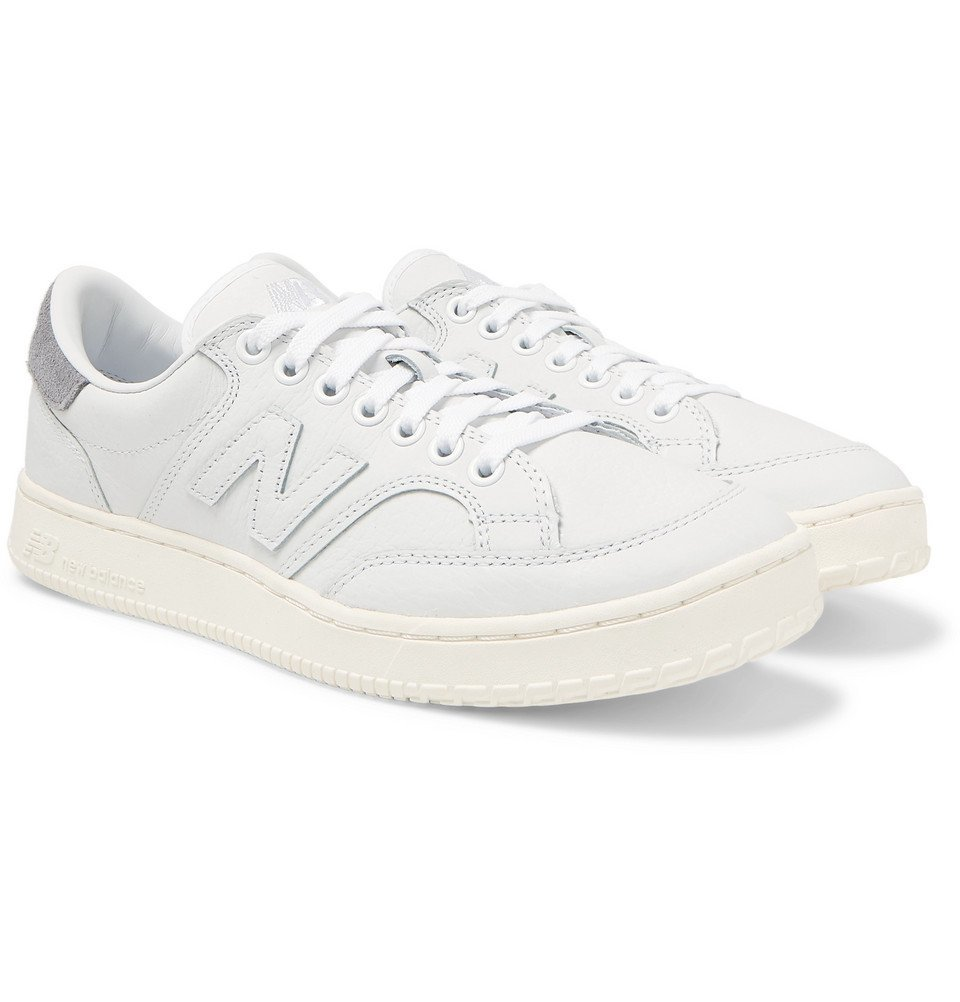 Photo: New Balance - CT400 Suede-Trimmed Full-Grain Leather Sneakers - White