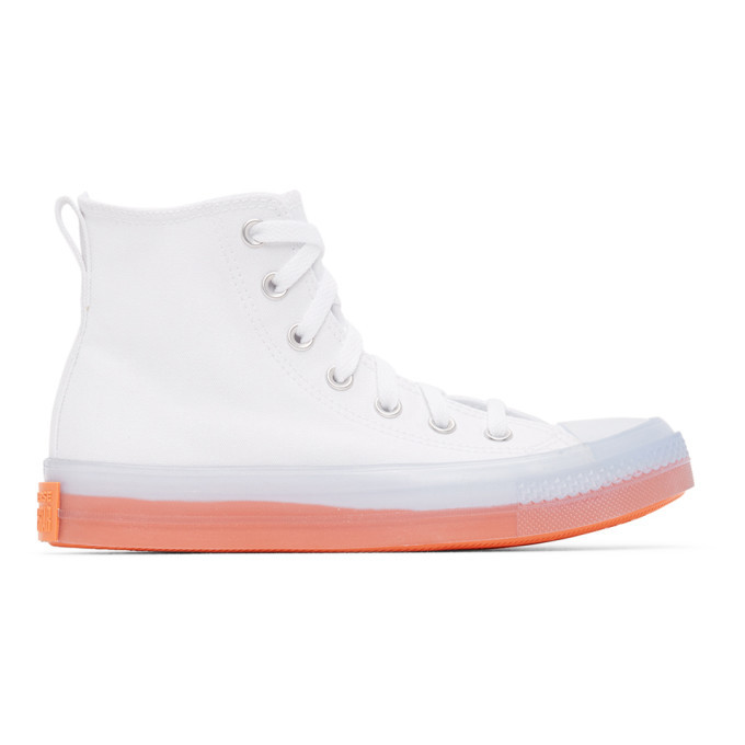 Photo: Converse White and Pink Chuck Taylor All Star Sneakers