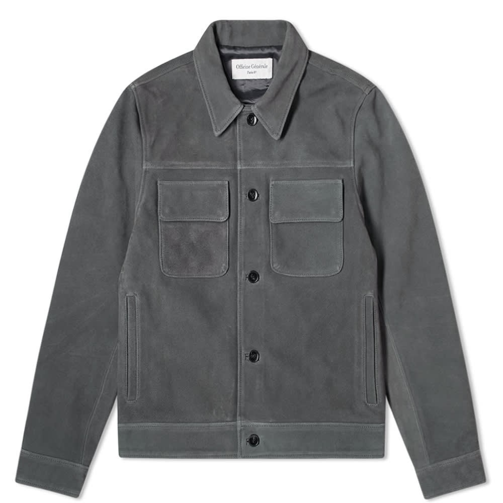Photo: Officine Generale Otto Unlined Suede Jacket