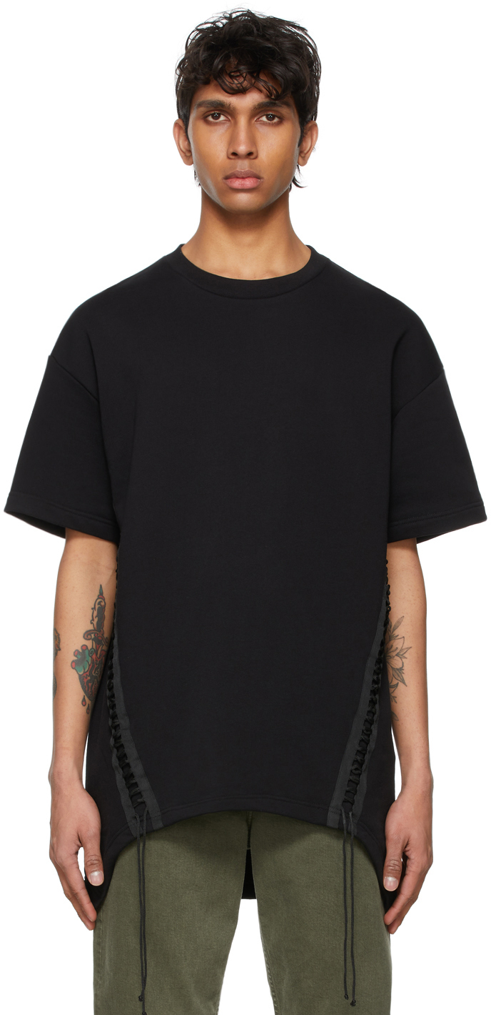 Photo: Helmut Lang Black French Terry Laced T-Shirt