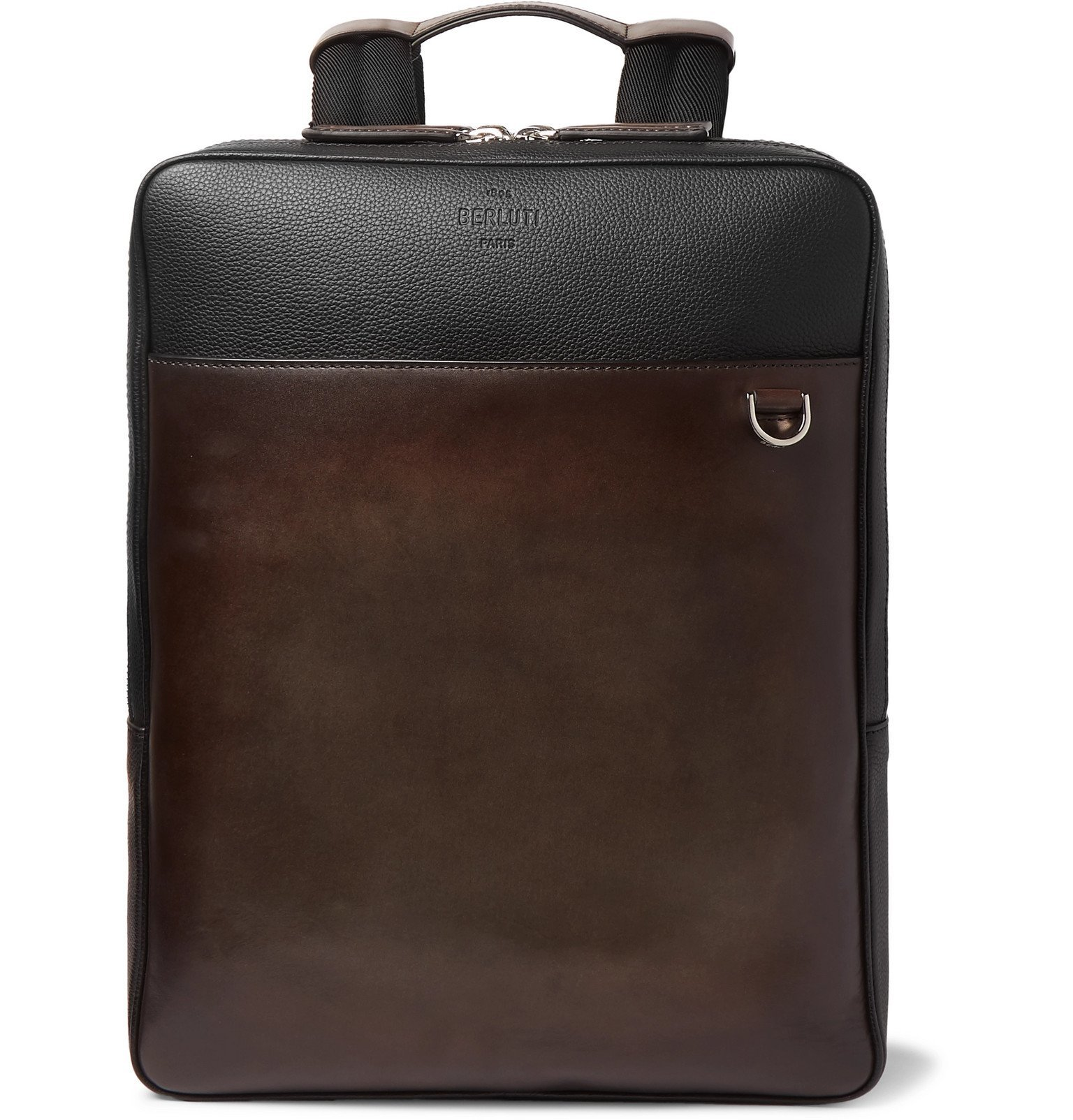 Photo: Berluti - Contraste Colour-Block Leather Backpack - Brown
