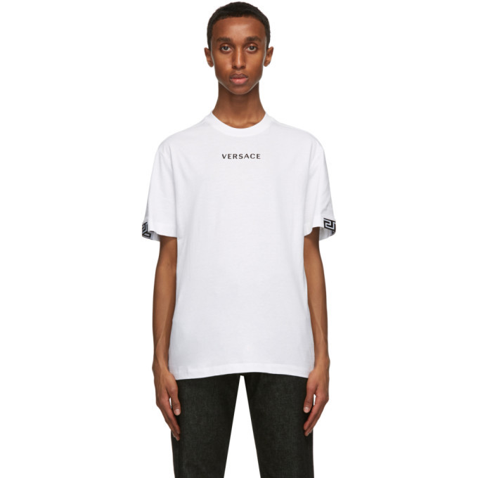Photo: Versace White Embroidered Logo T-Shirt